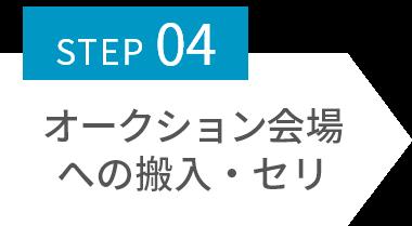 STEP04 オークション会場への搬入・セリ